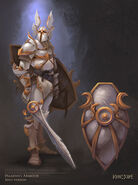 Paladin Hero outfit concept art