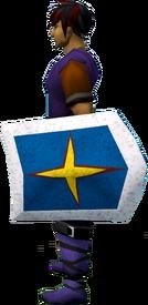 Rune kiteshield (Saradomin) equipped