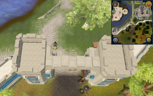 Scan clue Falador at south entrance to city