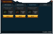 Vic's Store (2014) Golem Parts Tab