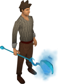 Water battlestaff equipped