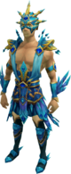 Crystal Peacock Armour equipped (male)