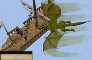 Dragon Slayer Elvarg flies overhead