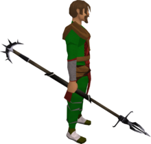 Lucky Zamorakian spear equipped