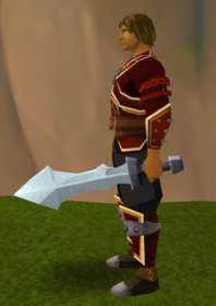 Off-hand steel ceremonial sword III equipped