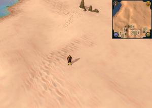 Scan clue Kharidian Desert just north of Nardah