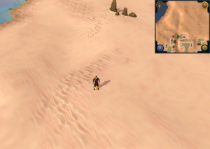 Scan clue Kharidian Desert just north of Nardah