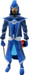 Blue mystic robes equipped