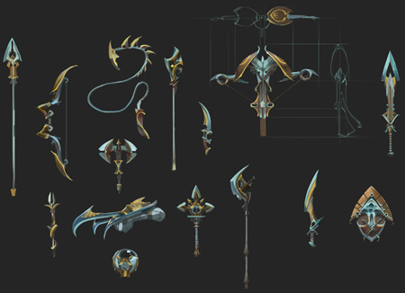 Exquisite weapons concept art