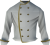 Sous chef's jacket detail