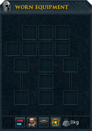 Worn equipment interface blank