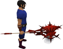 Dragon battlestaff equipped