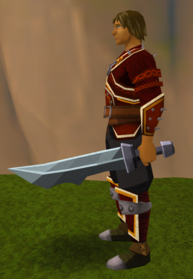 Off-hand iron ceremonial sword V equipped