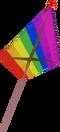 Rainbow kite detail