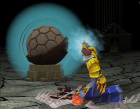 Saradomin com a Pedra de Jas