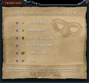 Trixie's list interface