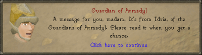Armadyl communiqué boodschapper