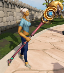 Augmented Second-Age staff equipped