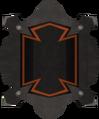 Black shield throwing disc detail.png