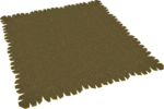 Brown rug built