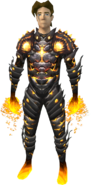 Lava Outfit (male) equipped