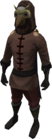 Mourner gear equipped