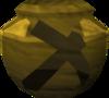 Plain mining urn (unf) detail
