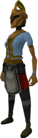 Rune heraldic helm (Money) equipped