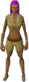 Shirt and shorts (Tan) equipped