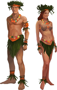 Tropical island outfit concept art full