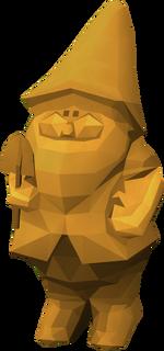 Gnomo de ouro detalhe