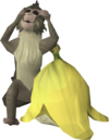 Hear-no-evil monkey hat detail