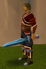Off-hand rune ceremonial sword IV equipped