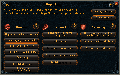 runescape bug report Image - Report Abuse.png | RuneScape Wiki | FANDOM powered by Wikia