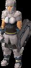White chainbody equipped