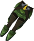 Blessed dragonhide chaps (Guthix) detail