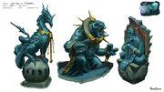 God Wars Dungeon statues concept art2