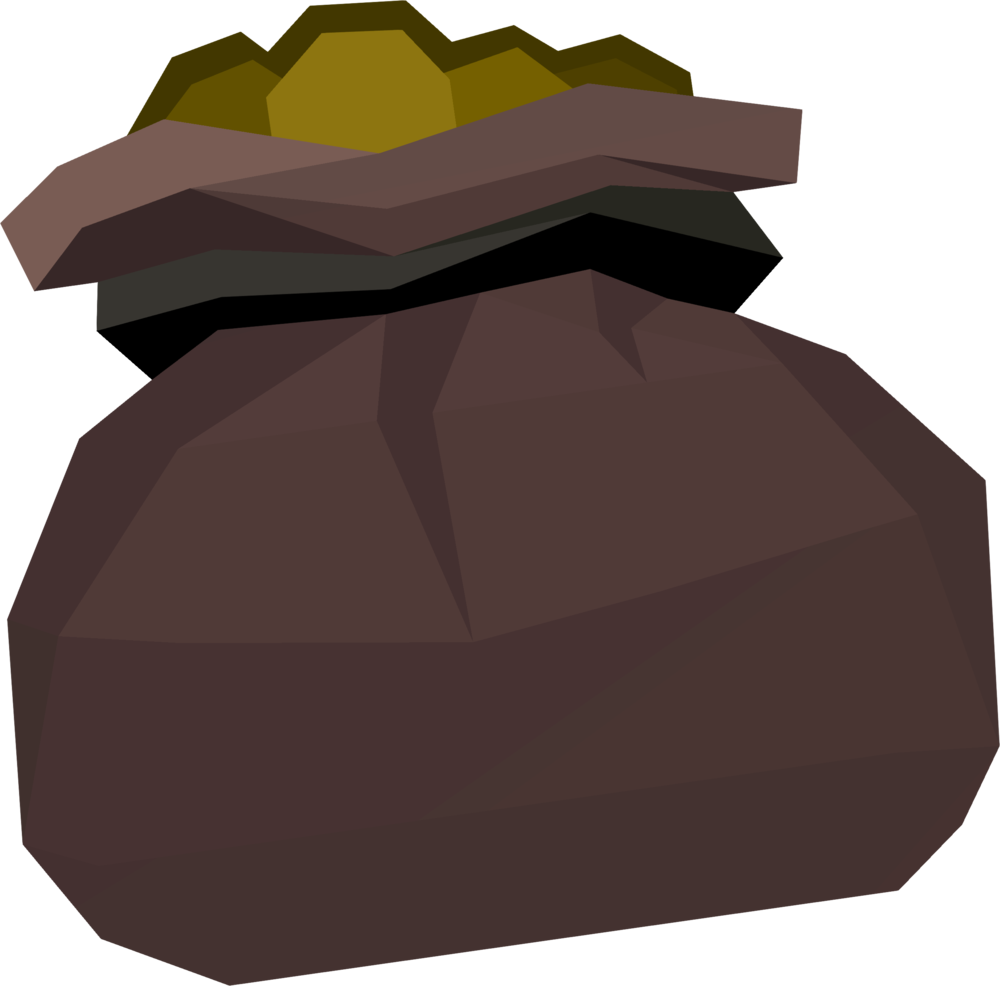 Large cash bag detail