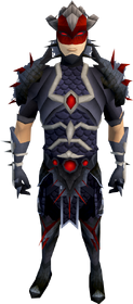 Royal dragonhide armour (spiky) (male) equipped