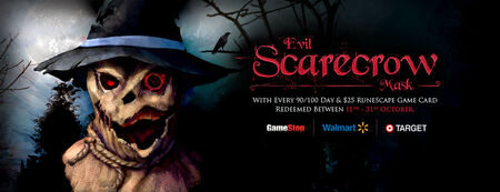 Scarecrow mask banner