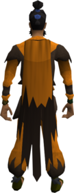 Warlock cloak equipped