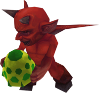 Egg-carrying imp