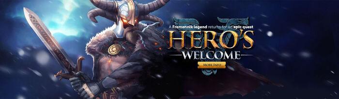 Hero's Welcome head banner