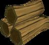 Mahogany pyre logs detail