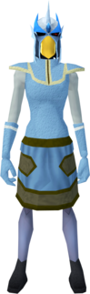 Mighty slayer helmet (c) (blue) equipped