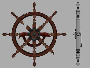 Ship's wheel shield concept art