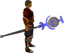 Soul talisman staff equipped