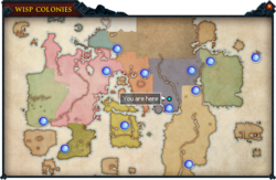 Wisp Colonies map