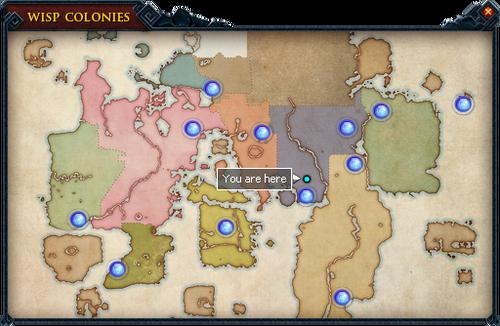 Wisp Colonies map