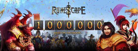 1 Million Facebook likes banner